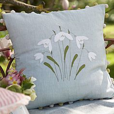 Snowdrop Cushion