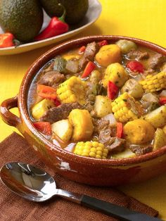 Special occasion food- The ultimate Dominican party food is Sancocho. Sancocho is like a stew or soup. It is made up of different types of meats and lots of vegetables. It is an old tradition and comfort food. Haitian Food Recipes, Mexican Food Recipes, Beef Recipes, Cooking Recipes, Healthy Recipes, Dutch Recipes, Comida Boricua, Boricua Recipes, Dominican Food