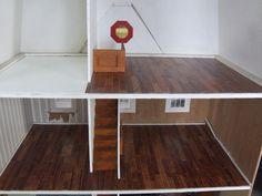 dollhouse diy  floor tile   Dollhouse flooring