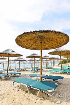 Beach umbrellas   - Explore the World with Travel Nerd Nici, one Country at a Time. http://TravelNerdNici.com