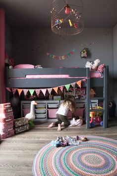 Loft bed youth kids bedroom design ideas space saver small short ceilings
