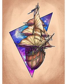 🌌Disney' Treasure Planet Theme 🌌 _ _ _ _ _ _ #tattoo #tattoos #neotraditionaltattoo #neotraditional #newschool #newschooltattoo #cartoon… Disney Tattoos, Baby Tattoos, Tattoos For Guys, Wicked Tattoos, Movie Tattoos, Watch Tattoos, Calf Tattoo, Grey Tattoo, Tattoo Ink