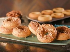 Get Bobby Flay's Brown Butter and Bourbon Maple-Glazed Doughnuts Recipe from Food Network
