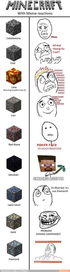 Minecraft with Memes :D Humor Minecraft, Minecraft Quotes, Minecraft Comics, How To Play Minecraft, Minecraft Skins, Minecraft Stuff, Minecraft Sword, Minecraft Redstone, Minecraft Crafts