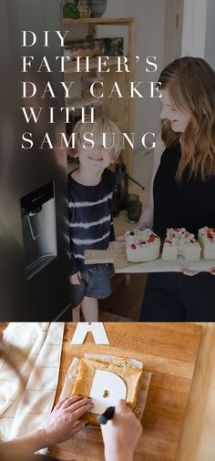 Make Father's Day extra special this year by making this DIY 'DAD' cake with Samsung Home Appliances!  @samsunghomeappliances #samsunghome #samsunghomeappliances