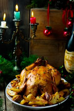 Домашняя курица в духовке
