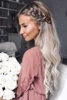 Awesome 45 Charming Romantic Hairstyles Ideas For Valentines Day. More at luvlyf… Awesome 45 Charming Romantic Hairstyles Ideas For Valentines Romantic Hairstyles, Easy Hairstyles For Long Hair, Pretty Hairstyles, Hairstyle Ideas, Hair Down Hairstyles, Black Hairstyles, Braided Hairstyles For Wedding, Hairdos, Female Hairstyles