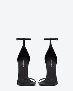 Love these!!   Classic saint laurent jane Sandal in Black Leather - Sandals – Shoes – Shop Women – Yves Saint Laurent – www.ysl.com