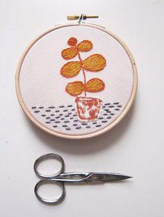 Wall art embroidery hoop art  free motion by LittleBirdOfParadise, £14.00