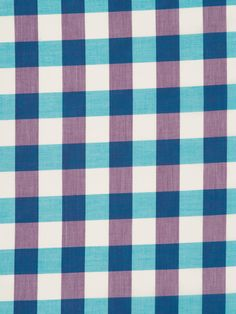 Modern Twist on Gingham - Turquoise