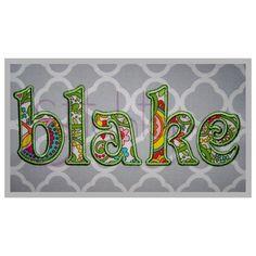 Stitchtopia Blake Applique Monogram Set – Lowercase
