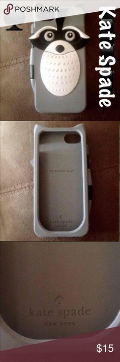 Kate Spade iPhone 5 Silicone Case Great condition Kate Spade iPhone 5 case kate spade Accessories Phone Cases