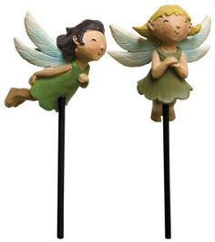 Flying Fairy Stakes - 2 pc. Available at www.shabbyshedprimitives.com