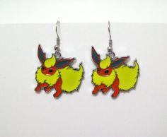 www.etsy.com/shop/eternalelfcreations  Pokemon earrings anime cartoon jewelry geek by Eternalelfcreations, $8.00