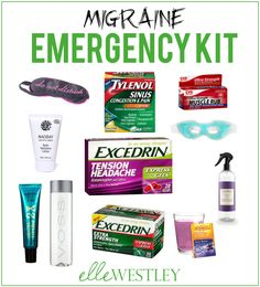 If you're like me and get migraines often, then you'll love my cheap and easy DIY Migraine Emergency Kit.   - See more at: http://www.ellewestley.com/#sthash.qHrL3jxu.dpuf
