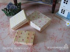 PDF Butter Roses Box Set for Dollhouse Miniature by ALavenderDilly