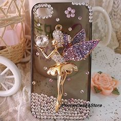 Angel iPhone 5 case Angel iPhone 4s case Crystal iphone 4 case Crystal  iphone 4s case iphone 4s cover Rhinestone iPhone case iPhone 5 case via Etsy