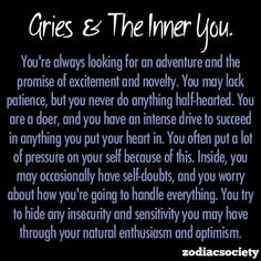 Aries ... scary how true!