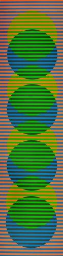Carlos Cruz-Diez / found on www.kunzt.gallery / Sitges 4, 2012 / Lithograph