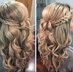 Resultado de imagem para penteados simples com cachinhos