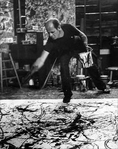 Jackson Pollock, by Hans Namuth