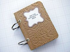 photo only - embossed chipboard for faux leather look