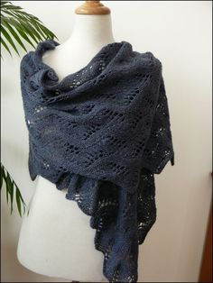 Traduction du Meandering Vines Shawl de Susanna IC - Organdi bidouille et papote