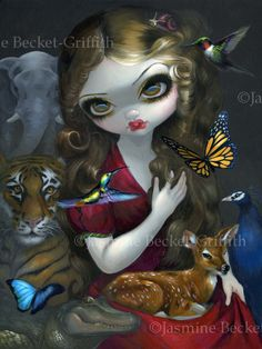 Were very pleased to present Fauna from artist Jasmine Becket-Griffith - direct from the artist (and her sister, hehe). And guess what? Jasmine has