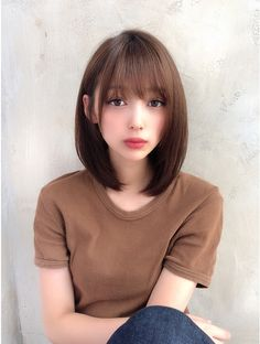 Bangs With Medium Hair, Medium Hair Cuts, Medium Hair Styles, Long Hair Styles, Japanese Haircut, Japanese Hairstyle, Asian Short Hair, Asian Hair, Haircuts Straight Hair