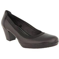 4fdddb8e6ad MARCO TOZZI 2-22418-27 - Γόβες Δερμάτινες μαυρες Character Shoes, Dance  Shoes