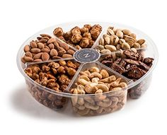 The Nuttery Deluxe Roasted Nuts Gift Basket 6Section * Amazon most trusted e-retailer #GourmetProduce