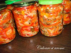 Salata de toamna (opintici, gogosari, ceapa, morcovi) – Culoare si Arome Mason Jars, Salads, Mason Jar, Glass Jars, Jars