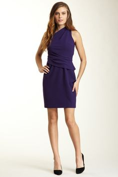 Cynthia Steffe One Shoulder Crepe Peplum Dress by Dress Sensation on @HauteLook
