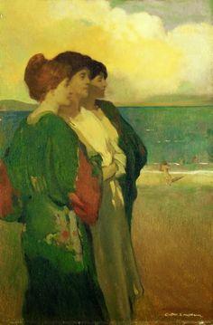 "Arthur Frank Mathews ""Song of the sea (The three graces)"""