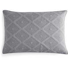 Oake Astor Quilted King Sham ($100) ❤ liked on Polyvore featuring home, bed & bath, bedding, bed accessories, charcoal, cotton pillow shams, king size quilted pillow shams, king quilted pillow shams, king bedding and king sham