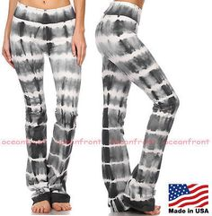 36.00$  Buy here - http://virby.justgood.pw/vig/item.php?t=3b0kcf512794 - Brand New Black and White Tie Dye Women's Yoga/Athletic Pants