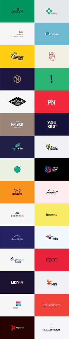 30 Logos by Studio KEJJO I love the simplicity of the designs. Branding And Packaging, Logo Branding, Branding Design, Graphic Design Studios, Graphic Design Typography, Logo Publicidad, Great Logos, Awesome Logos, Love Logo