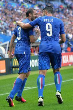 Graziano Pellè and Giorgio Chiellini Italia-Spagna 2-0 [Euro 2016]