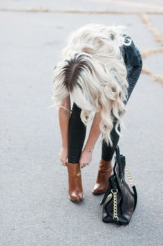 Cara Loren in ShopRiffraff's Cognac Upper Ankle Booties!! Cara Loves ShopRiffraff.com and wears it all the time!