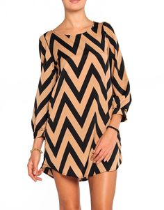 Zigzag Shift Dress.  throw a belt on and perfecto!