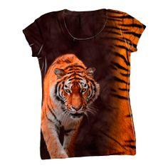 AnimalShirtsUSA- Tiger Half Skin #tiger ,#fun, #halfskin