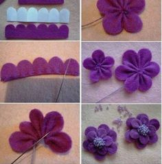 Keçeden çiçek yapımı