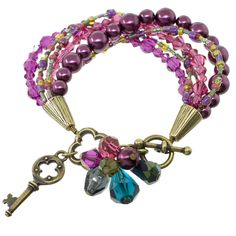 Berry Lovely Bracelet | Fusion Beads Inspiration Gallery.  #inspirationinbloom