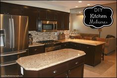 Oak cabinets redo on pinterest oak cabinet makeovers for Can i stain my kitchen cabinets darker