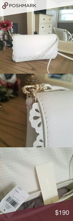 Kate Spade Fordham purse Brand new with tags, color is called cement. Still has tags and papers. Perfect for spring! It is a cross body style! If you want a better idea of the size I'll take more pics! kate spade Bags Crossbody Bags