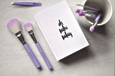 ohkalukalay: Crown Brush Lilac Ombre Brush Set