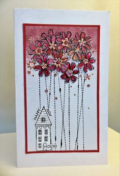 Happy New House card using Stampotique stamps. Jo Capper-Sandon