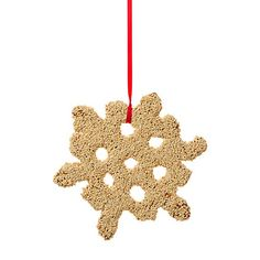 Shopterrain.com  Bird seed snowflake.
