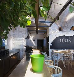 MÁK bistro on Behance by Fónagy Dóra