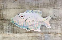 Vintage Ceramic Fish Platter Art Deco Serving Platter Mid Century Ceramic Sculpture  Colorful Mid Century Ceramic Fish Handmade Pottery Dish by TheDustyOldShack on Etsy